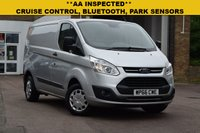 USED 2016 66 FORD TRANSIT CUSTOM 2.0 290 TREND LR P/V 1d 129 BHP This is a November 2016 Ford Transit Custom TREND in silver with the latest 2.0tdci 130 bhp engine. 1 keeper with service history and just 26000 miles.