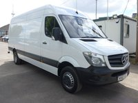 USED 2013 63 MERCEDES-BENZ SPRINTER 513 CDI LWB HI ROOF, 130 BHP [EURO 5], 1 COMPANY OWNER