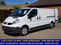 2011 RENAULT TRAFIC LL29 DCI 115 LWB WITH 6 SPEED GEARBOX £7295.00
