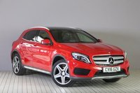 USED 2016 16 MERCEDES-BENZ GLA-CLASS 2.1 GLA 220 D 4MATIC AMG LINE PREMIUM PLUS 5d AUTO 174 BHP STUNNING JUPITER RED PAINT WORK, BLACK HALF ARTICO, CLOTH SPORT INTERIOR, 19 INCH DOUBLE SPOKE AMG ALLOY WHEELS, SAT NAV, REVERSE CAMERA,FRONT AND REAR  PARKING SENSORS, SELF PARK, PANORAMIC SUNROOF, HEATED SEATS, 1 OWNER, LOW MILEAGE, SERVICE HISTORY