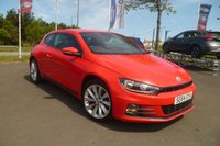 """USED 2015 64 VOLKSWAGEN SCIROCCO 2.0 GT TDI BLUEMOTION TECHNOLOGY 2d 150 BHP FULL DEALER SERVICE HISTORY, TOUCHSCREEN MEDIA WITH NAV, BLUETOOTH, 18"""" ALLOYS, REVERSE CAMERA, PARKING SENSORS, ONLY £20 ROAD FUND"""