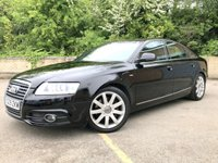 2009 AUDI A6 2.0 TDI S LINE 4d FULL BLACK LEATHER, ONLY 76K 8 SERVICES £7990.00