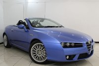USED 2009 09 ALFA ROMEO SPIDER 2.2 JTS 2DR 185 BHP SERVICE HISTORY + LEATHER SEATS + BLUETOOTH + CLIMATE CONTROL + MULTI FUNCTION WHEEL + 18 INCH ALLOY WHEELS