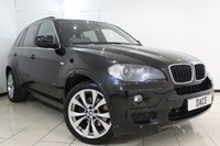 USED 2008 08 BMW X5 3.0 D M SPORT 5DR AUTOMATIC 232 BHP SERVICE HISTORY + HEATED LEATHER SEATS + 7 SEATS + SAT NAVIGATION PROFESSIONAL + REVERSE CAMERA + BLUETOOTH + CRUISE CONTROL + MULTI FUNCTION WHEEL + CLIMATE CONTROL + 19 INCH ALLOY WHEELS