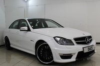 USED 2014 63 MERCEDES-BENZ C 63 AMG 6.2 C63 AMG 4DR AUTOMATIC 457 BHP SERVICE HISTORY + HEATED LEATHER SEATS + SAT NAVIGATION + PARKING SENSOR + ELECTRIC SUNROOF + BLUETOOTH + CRUISE CONTROL + MULTI FUNCTION WHEEL + 19 INCH ALLOY WHEELS