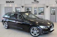 USED 2013 13 BMW 3 SERIES 2.0 320D SPORT TOURING 5d AUTO 181 BHP SERVICE HISTORY + 2 TONE GREY LEATHER SEATS + SAT NAV + PANORAMIC ROOF + XENON HEADLIGHTS + HEATED FRONT SEATS + BLUETOOTH + DAB RADIO + 17 INCH ALLOYS + CRUISE CONTROL
