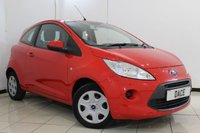 USED 2014 14 FORD KA 1.2 EDGE 3DR 69 BHP AIR CONDITIONING + RADIO/CD + ELECTRIC WINDOWS + ELECTRIC MIRRORS + 14 INCH ALLOY WHEELS