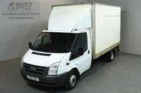 USED 2011 11 FORD TRANSIT 2.4 350 115 BHP L3 LWB LUTON REAR LARGE HYDROLIC LIFT FITTED  ONE OWNER FROM NEW, SERVICE HISTORY