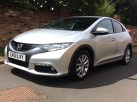 USED 2012 61 HONDA CIVIC 2.2 I-DTEC ES 5d 148 BHP £20 ROAD TAX, SERVICE HISTORY, 1YR MOT, EXCELLENT CONDITION, ALLOYS, CLIMATE CONTROL,  FOGS, RADIO CD, E/WINDOWS, R/LOCKING, FREE WARRANTY, FINANCE AVAILABLE, HPI CLEAR, PART EXCHANGE WELCOME,
