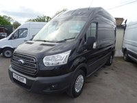 2015 FORD TRANSIT 2.2 350 TREND H/R P/V 1d 124 BHP BLACK METALLIC WITH AIR CON £10995.00