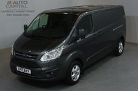 USED 2017 17 FORD TRANSIT CUSTOM 2.0 290 LIMITED 129 BHP L2 H1 LWB LOW ROOF A/C E6 ONE OWNER FROM NEW, MANUFACTURE WARRANTY UNTIL 6/06/2020