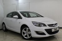 USED 2013 13 VAUXHALL ASTRA 1.6 SRI 5DR AUTOMATIC 115 BHP CRUISE CONTROL + MULTI FUNCTION WHEEL + AIR CONDITIONING + RADIO/CD + AUXILAIRY PORT + 17 INCH ALLOY WHEELS