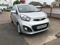 USED 2014 14 KIA PICANTO 1.0 VR7 5d 68 BHP ZERO £££ ROAD TAX-1 OWNER-MAIN DEALER SERVICE HISTORY-BLUETOOTH