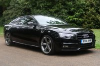 2014 AUDI A5 2.0 TDI QUATTRO S LINE BLACK EDITION S/S 2d AUTO 174 BHP £18000.00