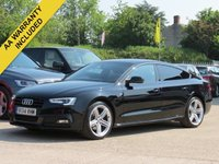 USED 2014 14 AUDI A5 1.8 SPORTBACK TFSI S LINE BLACK EDITION 5d 168 BHP 19 INCH ALLOYS, BANG + OLUFSEN SOUND + FULL LEATHER