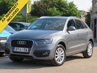 USED 2014 14 AUDI Q3 2.0 TDI SE 5d 138 BHP AA DEALER PROMISE, READY TO DRIVE AWAY TODAY