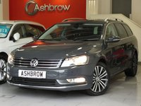 USED 2013 13 VOLKSWAGEN PASSAT ESTATE 2.0 TDI SPORT BLUEMOTION TECH 5d 177 S/S SATELLITE NAVIGATION SYSTEM, DAB RADIO, FRONT & REAR PARKING SENSORS, BLUETOOTH TELEPHONE PREP WITH MUSIC STREAMING, MDI INPUT FOR IPOD/USB DEVICES, AUX INPUT, CD PLAYER & SD CARD READER, 17 INCH MULTI-SPOKE ALLOYS, CRUISE CONTROL, LIGHT & RAIN SENSORS WITH AUTO DIMMING REAR VIEW MIRROR, LEATHER MULTI FUNCTION STEERING WHEEL, DUAL CLIMATE AIR CON, AUTO HOLD, FULL SERVICE HISTORY