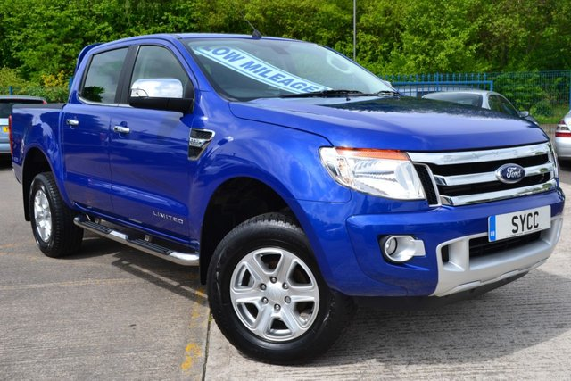USED 2015 15 FORD RANGER 2.2 LIMITED 4X4 DCB TDCI 1d 148 BHP GENUINE 13000 MILES ~ SAT NAV ~ REVERSE CAMERA ~ HEATED LEATHER ~ 1 OWNER ~ JUST SERVICED ~ 2 KEYS ~ PERFORMANCE BLUE