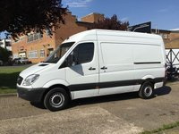 USED 2013 13 MERCEDES-BENZ SPRINTER 2.1 313CDI MWB HIGH ROOF 130BHP. 1 OWNER. ONLY 94K. FSH. NO DEPOSIT FINANCE. PX WELCOME