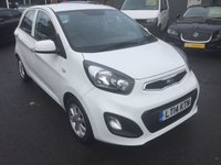 2014 KIA PICANTO 1.0 VR7 5 DOOR 68 BHP IN WHITE WITH ONLY 48000 MILES IN IMMACULATE CONDITION £4999.00