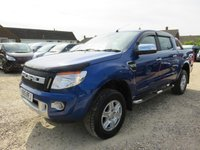 2015 FORD RANGER 2.2 TDCI LIMITED 4X4 DOUBLE CAB TDCI 148 BHP 19373 MILES £17995.00
