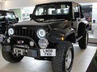 USED 2008 08 JEEP WRANGLER 3.8 V6 Petrol Automatic Soft Top. Lifted with Upgraded Arches and Alloys. Super Clean and Inspected with Warranty Imported by our company is this fantastic, lifted to go-anywhere 4x4 soft top Wrangler with a fresh MoT with no advisories. This car features a big lift with upgraded suspension and top spec BFG tyres, air con, winch bumper, LED Lights front and rear, LED indicators with smoked lens, flared studded wheel arches and side camera. Quilted nappa leather upholstery and twin-pipe sports exhaust just added with photos to follow.