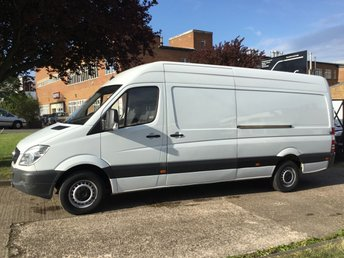 2013 MERCEDES-BENZ SPRINTER 2.1 313CDI LWB HIGH ROOF 130BHP. 1 OWNER. FULL SERVICE HISTORY £9490.00