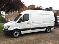 USED 2013 63 MERCEDES-BENZ SPRINTER 2.1 313CDI MWB HIGH ROOF 130BHP NEW SHAPE. LOW 56,000 MILES. VERY LOW MILES. NO DEPOSIT FINANCE. PX