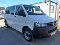 2015 VOLKSWAGEN TRANSPORTER 2.0 T30 TDI W/V BLUEMOTION TECHNOLOGY 9 SEATER, 113 BHP, AIR CONDITIONING £12995.00