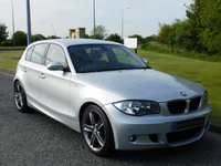 """USED 2008 BMW 1 SERIES 2.0 118D M SPORT 5d 141 BHP 1/2 LEATHER, 18"""" ALLOYS"""