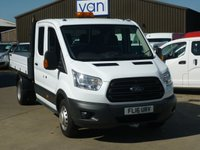 2016 FORD TRANSIT 2.2 350 L3 Double Cab Tipper 125 BHP £15995.00