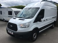 2015 FORD TRANSIT 2.2 350 H/R P/V 1d 124 BHP HIGH ROOF ONE OWNER  £11400.00