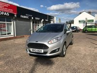 USED 2013 13 FORD FIESTA 1.5 ZETEC TDCI 5d 74 BHP FULL MAIN DEALER SERVICE HISTORY-1 FORMER KEEPER-AUX AND USB SOCKET-BLUETOOTH