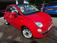 USED 2014 14 FIAT 500 1.2 CONVERTIBLE LOUNGE 3d 69 BHP Full Service History (Fiat + ourselves), One Lady Owner from new, Minimum 9 months MOT, Great on fuel economy! Only £30 Road Tax! Convertible