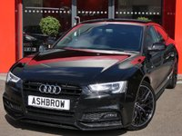 USED 2015 15 AUDI A5 SPORTBACK 2.0 TDI S LINE BLACK EDITION PLUS 5d 190 S/S UPGRADE BODY COLOURED EXTERIOR MIRRORS, MMI NAVIGATION PLUS, HEATED FRONT SEATS, FULL BLACK LEATHER, BANG & OLUFSEN SOUND SYSTEM, PARKING SYSTEM PLUS (FRONT & REAR WITH DISPLAY), CRUISE CONTROL, AUDI MUSIC INTERFACE (AMI), DVD PLAYER, VOICE DIALOGUE SYSTEM, PRIVACY GLASS, DAB RADIO, BLUETOOTH PHONE & MUSIC STREAMING, WIRELESS LAN CONNECTION, LED XENON LIGHTS, 19 INCH MULTI-SPOKE ALLOYS, LEATHER FLAT BOTTOM MULTIFUNCTION STEERING WHEEL, LIGHT & RAIN SENSORS, 1 OWNER FROM NEW