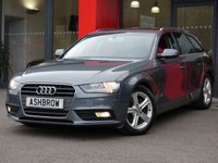 USED 2015 15 AUDI A4 AVANT 2.0 TDI ULTRA SE TECHNIK 5d 163 S/S UPGRADE AUDI DRIVE SELECT, UPGRADE FRONT SPORT SEATS WITH ELECTRIC LUMBAR SUPPORT, UPGRADE LEATHER 3 SPOKE SPORT MULTIFUNCTION STEERING WHEEL, HDD SAT NAV WITH JUKEBOX & DVD PLAYBACK (MMI NAVIGATION PLUS), FULL LEATHER INTERIOR, DAB RADIO, WIRELESS LAN CONNECTION (WLAN), BLUETOOTH MOBILE PHONE PREP WITH MUSIC STREAMING, AUDI MUSIC INTERFACE,FRONT & REAR PARKING SENSORS WITH DISPLAY, ELECTRIC TAILGATE, CRUISE CONTROL, LIGHT & RAIN SENSORS, 1 OWNER, FULL AUDI HISTORY, £30 ROAD TAX