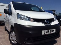 2015 NISSAN NV200 SWB 1.5 DCI ACENTA 90 BHP 1 OWNER FSH NEW MOT AIR CON RACKING £8200.00