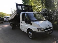 USED 2005 55 FORD TRANSIT T350 *135PS 6 SPEED* 3 WAY SINGLE CAB TIPPER