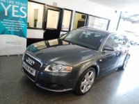 USED 2006 56 AUDI A4 2.0 TDI S LINE DPF 5d 170 BHP Finished in Dolphin Grey with Grey cloth seats. Four owners, full service history- 10 stamps, supplied with 12 months Mot