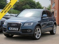 USED 2015 15 AUDI Q5 3.0 TDI QUATTRO S LINE PLUS 5d AUTO 242 BHP REVERSING CAMERA, FULL LEATHER + BANG AND OLUFSEN SOUND