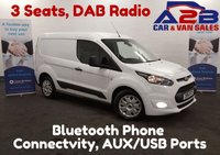 2016 FORD TRANSIT CONNECT 1.6 200 TREND , 3 Seats, Bluetooth, DAB Radio £8980.00