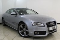USED 2011 11 AUDI A5 2.0 TDI S LINE SPECIAL EDITION 2DR 168 BHP FULL SERVICE HISTORY + LEATHER SEATS + SAT NAVIGATION + PARKING SENSOR + BLUETOOTH + CRUISE CONTROL + MULTI FUNCTION WHEEL + CLIMATE CONTROL + 19 INCH ALLOY WHEELS
