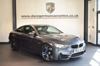 USED 2015 15 BMW 4 SERIES 3.0 M4 2DR AUTO 426 BHP +  FULL BLACK LEATHER INTERIOR + FULL BMW SERVICE HISTORY + PRO SATELLITE NAVIGATION + HEATED SPORT SEATS WITH MEMORY + XENON LIGHTS + CRUISE CONTROL + PADDLE SHIFT GEARS + DAB RADIO + PARKING SENSORS + 19 INCH ALLOY WHEELS +