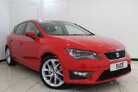 USED 2014 14 SEAT LEON 2.0 TDI FR TECHNOLOGY DSG 5DR AUTOMATIC 184 BHP FULL SERVICE HISTORY + HALF LEATHER SEATS + SAT NAVIGATION + BLUETOOTH + CRUISE CONTROL + AIR CONDITIONING + 17 INCH ALLOY WHEELS