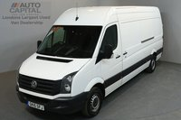 USED 2015 15 VOLKSWAGEN CRAFTER 2.0 CR35 135 BHP LWB HIGH ROOF ONE OWNER FROM NEW, SPARE KEY