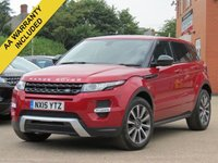 USED 2015 15 LAND ROVER RANGE ROVER EVOQUE 2.2 SD4 DYNAMIC 5d AUTO 190 BHP AUTOMATIC, MERIDIAN SOUND, NAVIGATION + REVERSING CAMERA