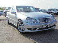 USED 2005 05 MERCEDES-BENZ C CLASS 1.8 C180 KOMPRESSOR SPORT EDITION 4d AUTO 141 BHP 7 SERVICES 3 MAIN DEALER, 12 MONTHS MOT, 3 OWNERS