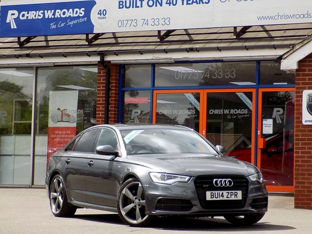 USED 2014 14 AUDI A6 3.0 TDi QUATTRO S LINE BLACK EDITION AUTO (245)  ** Sat Nav + Sun Roof + Leather **
