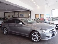 USED 2013 13 MERCEDES-BENZ CLS CLASS 2.1 CLS250 CDI BLUEEFFICIENCY AMG SPORT 5d AUTO 202 BHP SAT NAV+R-CAM+SUNROOF+LTHR+