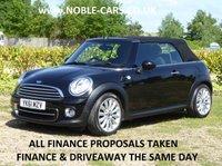 2011 MINI CONVERTIBLE 1.6 COOPER 2d AUTO 122 BHP £9295.00